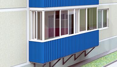 Облицовка балкона профлистом
