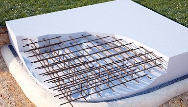 Плитный фундамент для проблемного грунта