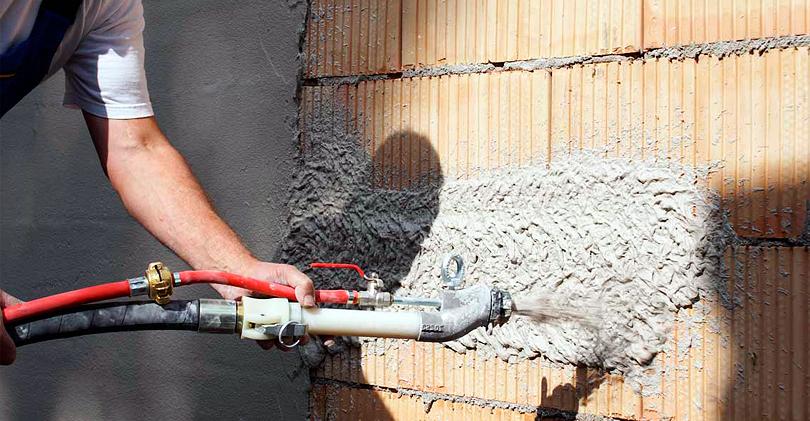 Механизированная машинная штукатурка – ровные стены и минимум затрат